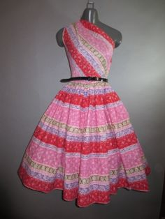 1950s  One Shoulder Party Dress by Sue Mason Jr