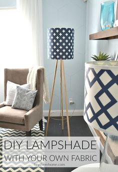 DIY Lampshade: Such an easy way to create your own custom lamp shade with your favorite fabric.