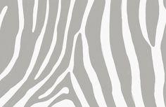 Gray Zebra Print Wallpaper Mural | Hovia