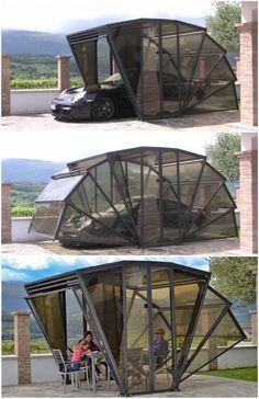gaxebox tutto in uno Carport Garage, Pergola Carport, Diy Pergola, Metal Pergola, Carport Designs, Pergola Designs, Carport Ideas, Garage Ideas, Gazebo Ideas