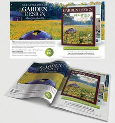 Create a two-page spread ad for consumer magazine by harles .