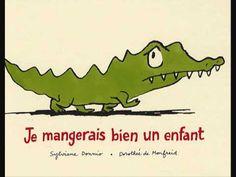 ▶ Tabone - Achille le crocodile. Bestaat ook als prentenboek en vertelplaten voor de kamishibai