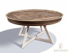 Tøft og rustikt Java sofabord i resirkulert alm og