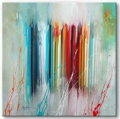 BRATIS /  UNIKAT Acryl Bilder Gemälde Kunst abstrakt 980c