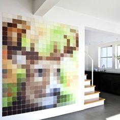 Pixel wanddecoratie Ixxi hert   Musthaves verzendt gratis