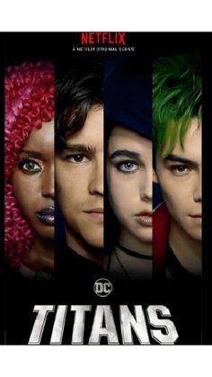 Coming to Netflix Worldwide January Dc Comics Film, Dc Comics Superheroes, Teen Titans Go, Titans Tv Series, Power Rangers Comic, Ryan Potter, Raven Beast Boy, Original Teen Titans, Bbrae