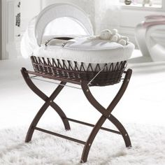 Izziwotnot Gift White Wicker Baby Moses Basket Dark Brand New Gift Baby Moses, Baby Bassinet, Baby Cribs, Nursery Furniture, Nursery Bedding, Baby Baskets, Moses Basket, White Wicker, Mother And Baby