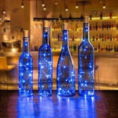 AGPtek Cork Shape Lights Bottle Mini String Light 30 Inch For Decoration - Blue Image 1 of 7 So Galaxy Wedding, Starry Night Wedding, Decor Eventos, Starry Night Prom, Starry Nights, Blue Wedding Centerpieces, Royal Blue Wedding Decorations, Blue Party Decorations, Centerpiece Ideas