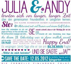 Save the Date Karte | Hochzeitsblog Fräulein K. Sagt Ja