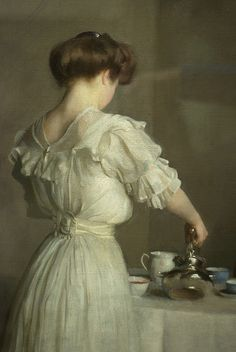 Tea Leaves, 1909 (Detail) by William McGregor Paxton