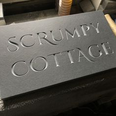 Andrew James Brazilian slate. House Name Signs, House Names, Garden Architecture, Stone Carving, Stone Cuts, Typo, Indoor Plants, Slate, Signage