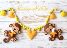 """Kinderwagenketten - Kinderwagenkette """"Affen mit Banane"""" - ein Designerstück von KarapuzBoutique bei DaWanda"""