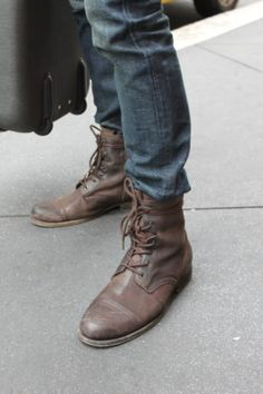leather boots are my favorite men's casual shoe.