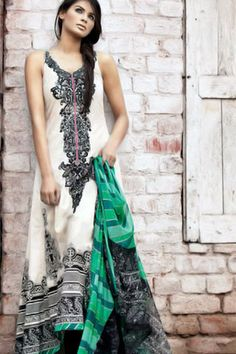 the kurta is really long but i like the green dupatta and the simplicity of the salwar kameez