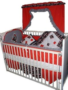 Baby Nursery Crib Quilt w/Tampa Bay Buccaneers fabric