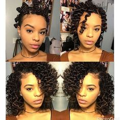 Natural hair without heat eve s - sep 2016 curly hairstyles going back Natural Hair Journey, Natural Hair Tips, Natural Curls, Natural Hair Styles, Hair Without Heat, Pretty Hairstyles, Woman Hairstyles, Simple Hairstyles, Black Hairstyles