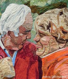 closeup, Small Moments by Patsy Kittredge.  2016 AZQG show.  Photo by Quilt Inspiration.