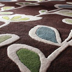 Stencil in Chocolate Hand-Tufted Wool Area Rug