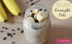 These creamy and delicious Banana Overnight Oats are the perfect healthy breakfast! Make a batch of this simple recipe and have breakfast all week!