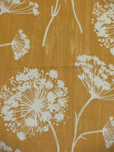 Capshaw Gold - www. Capshaw Gold - www. Floral Upholstery Fabric, Gold Fabric, Yellow Fabric, Drapery Fabric, Fabric Decor, Fabric Design, Curtains, Flower Patterns, Print Patterns