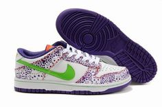 buy popular 89298 cdaad Heren Nike Dunk SB Low Day Of The Dead wit purper groen