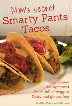 Super inexpensive tacos with hidden veggies and a #dairyfree cheesy sauce - #dinner #recipe #healthy #meal