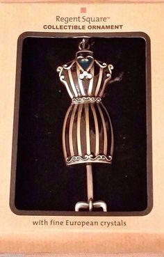 REGENT SQUARE Vintage DRESS FORM Collectible Ornament w/Fine European Crystals #RegentSquare