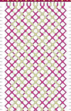 pattern - macrame friendship bracelet - by claudine Macrame Patterns, Loom Patterns, Beading Patterns, String Bracelet Patterns, Bracelet Fil, Thread Bracelets, String Bracelets, Diy Friendship Bracelets Patterns, Bijoux Diy