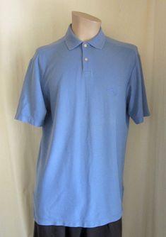 3d574ff4a TOMMY BAHAMA Men's Blue Fish Logo Short Sleeve Cotton Blend Polo Shirt M  Medium #TommyBahama #PoloRugby