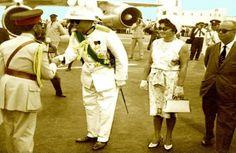 Kedamawi Hayl Selasse (Haile Selassie I) in Trinidad April 19, 1966