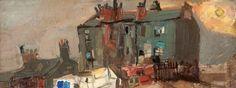 Joan Eardley - Glasgow Tenements, c.1960, Oil on board, 10.8 x 31 cm, Hunterian Art Gallery, University of Glasgow.
