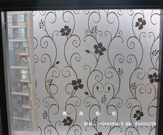 加厚玻璃贴膜欧式移门贴纸透光不透明玻璃贴纸黑色铁艺花玻璃贴膜-淘宝网