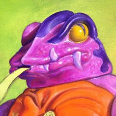Painting of Tung Lashor from MOTU by allan. Toys, Masters, Artist, Snake, Instagram Posts, Universe, Paintings, Fictional Characters, Men