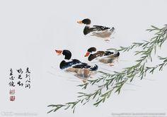 国画鸭子高清图片下载
