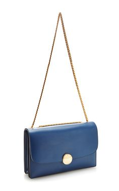 Big Box Leather Trouble Bag in Blue by Marc Jacobs - Moda Operandi