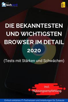Es gibt viele Browser, oder auch Webbrowser genannt, in den weiten des Internets die man sich installieren kann. Ich zeige dir welche Browser es gibt, welcher am besten für dich ist und welchen du am besten meiden solltest. #browser #test #2020 #webbrowser It Wissen, Der Computer, Internet Explorer, Technology, Tips And Tricks, Tutorials
