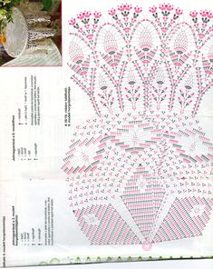 Star & Pineapples crochet tablecloth diagram