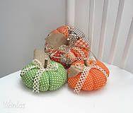 Dekorácie - Jesenné tekvičky...sada - 5874530_
