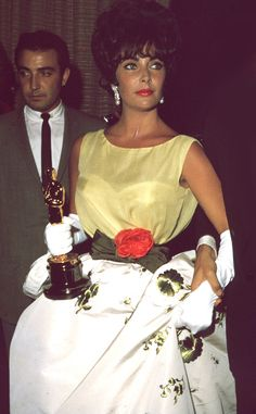 Elizabeth Taylor from 50 Years of Oscar Dresses: Best Actress Winners From 1954 - 2014 | E! Online
