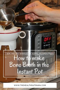Learn How to make Bone Broth in the Instant Pot in 2 hrs. This is the easiest