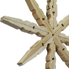 clothespin crafts | Clothespin Snowflake Ornament | Christmas crafts/goodies
