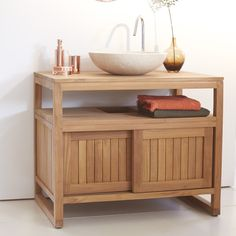 Colonial Solo Teak Washstand 90 £399