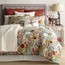 Collective Fall Color Bedding, Such As Orange, Yellow, Aqua, Red