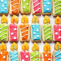 how to make decorated birthday candle cookies