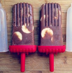 Coconut Banana Chocolate Pops (Vegan)