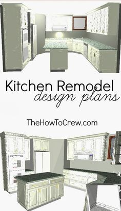Kitchen Remodel Plans from TheHowToCrew.com. Come see what we've got up our sleeves for our new kitchen! #diy #kitchen #remodel