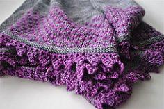 Elowen Shawl pattern by Judy Marples