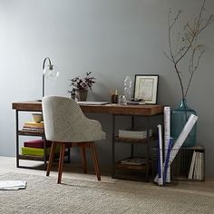 Hewn Wood Desk, West Elm Work Desks Office Tables Office Furniture is part of Office furniture Apartment Therapy - catalog only Apartment Furniture, Home Office Furniture, Cool Furniture, Modern Furniture, Furniture Stores, Furniture Ideas, Gothic Furniture, Furniture Buyers, Furniture Online