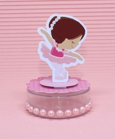 Ballerina Party Favors, Ballerina Centerpiece, Baby Shower Niño, Gold Baby Showers, Dance Crafts, Baby Ballerina, Baby Shark, Silhouette Projects, Pink White