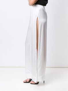 alix side slit trousers
